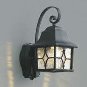 コイズミ照明 LED一体型ポーチ灯 防雨型 白熱球60W相当 電球色 マルチタイプ人感センサ付 黒 AU42403L