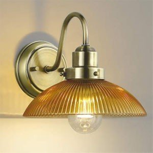 コイズミ照明 LEDブラケットライト LEDランプ交換可能型 白熱球60W相当 電球色 6.4W 口金E26 アンバー色塗装リブ入 AB43550L AB43550L