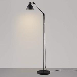 コイズミ照明 LEDフロアスタンドライト Arm Light 白熱球60W相当 電球色 スイッチ付 黒 AT49288L