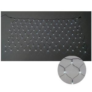 ジェフコム LEDクロスネット 2×2m(白/白) SJ-N20-WW