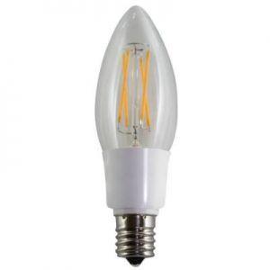 販売終了 エスティーイー ケース販売 12個セット LED電球 デコフィラメント キャンドル 赤系電球色 E17 JC17F3RL_set