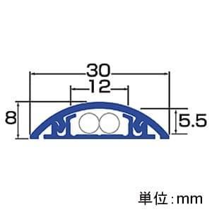 サンワサプライ ケーブルカバー 木目模様タイプ 幅30mm 長さ1m CA-R30M dendenichiba 02