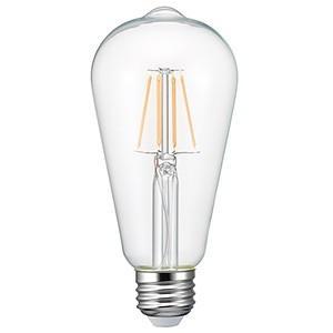 電材堂 ケース販売 10個セット LEDフィラメント電球 クリアタイプ エジソン電球40W形相当 電球色 E26口金 LDE4LGCDNZ_set