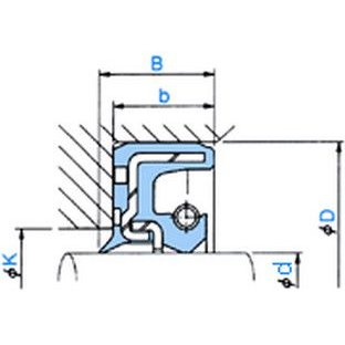 NOK オイルシール TCN11014014F (AP4212G0) TCN型