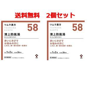 【第2類医薬品】【送料無料!2個セット!】ツムラの漢方【58】清上防風湯(せいじょうぼうふうとう)エキス顆粒 48包 【散剤】