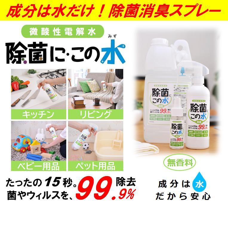 微酸性電解水「除菌に・この水」携帯用50ml 5本セット|denkaisuishop|02