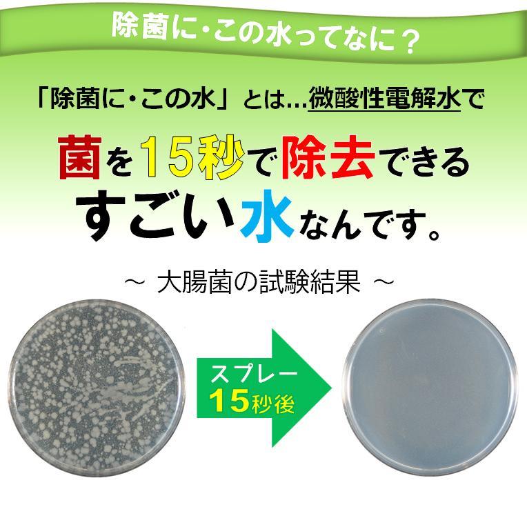 微酸性電解水「除菌に・この水」携帯用50ml 5本セット|denkaisuishop|03