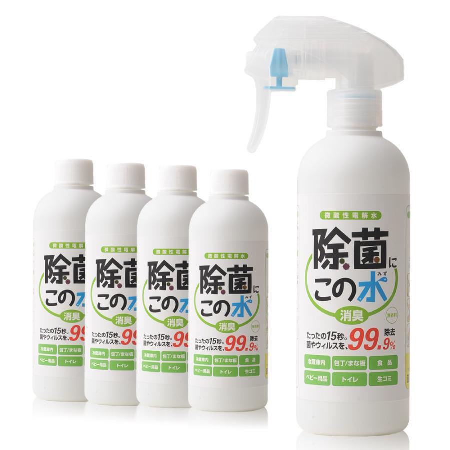 微酸性電解水「除菌に・この水」300ml 付替5本セット denkaisuishop
