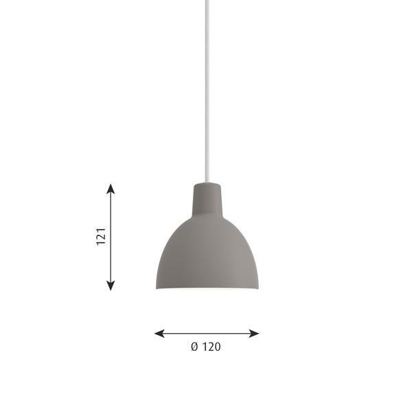 ルイスポールセン「Toldbod 120 ( ( トルボー )」ライトグレー/ペンダントライト(引掛けシーリング用)