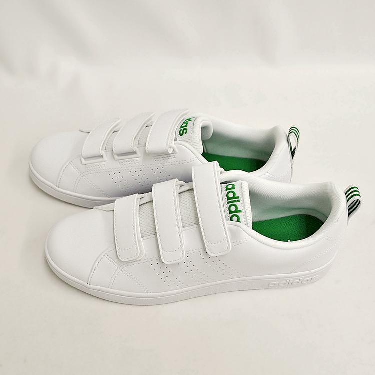 アディダス バルクリーン2 CMF ベルクロ スニーカー メンズ ホワイト/グリーン 白 adidas VS ADVANTAGE CLEAN CMF AW5210 denpcy 14