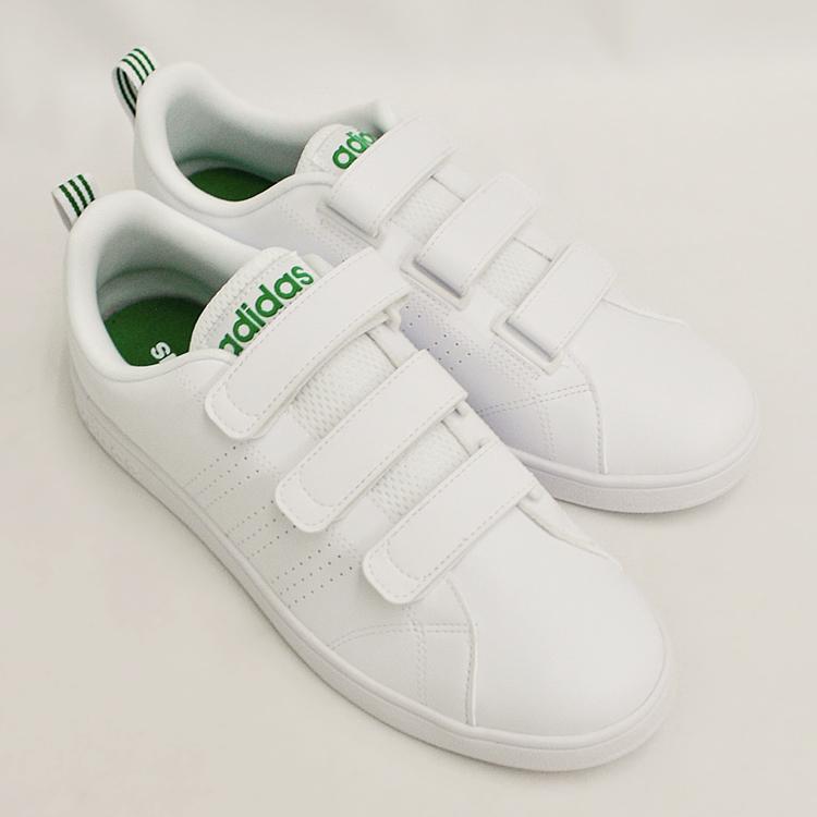 アディダス バルクリーン2 CMF ベルクロ スニーカー メンズ ホワイト/グリーン 白 adidas VS ADVANTAGE CLEAN CMF AW5210 denpcy 18