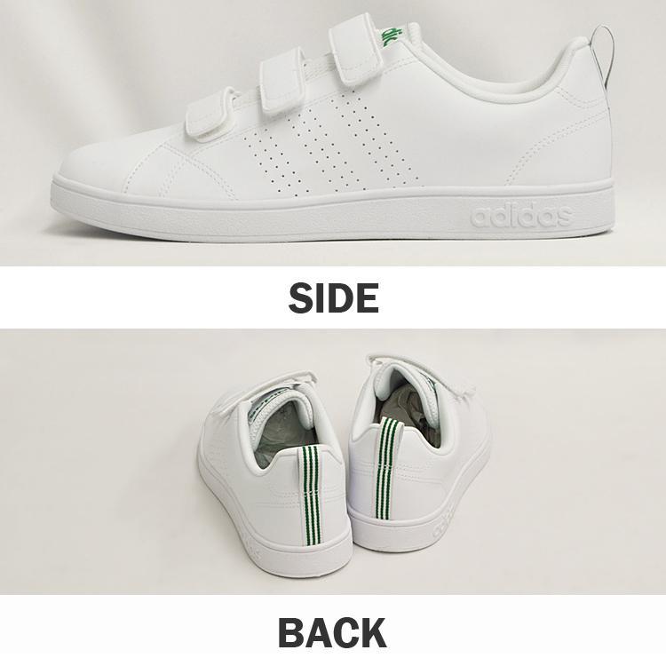 アディダス バルクリーン2 CMF ベルクロ スニーカー メンズ ホワイト/グリーン 白 adidas VS ADVANTAGE CLEAN CMF AW5210 denpcy 06
