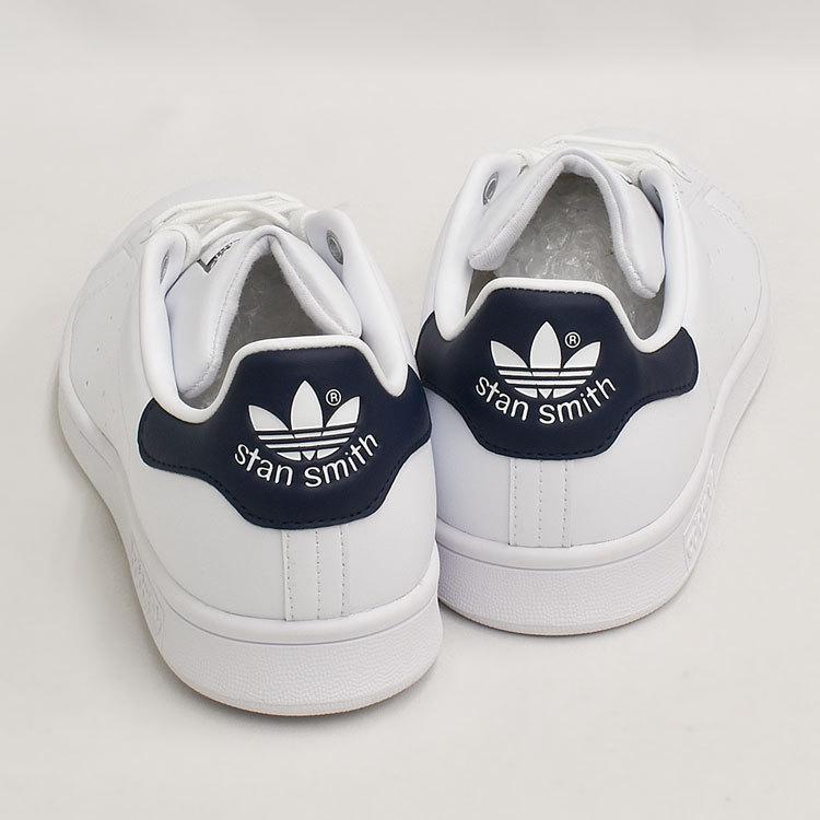 スタンスミス ネイビー アディダス メンズ レディース スニーカー ホワイト/ネイビー 白 adidas STANSMITH WHITE/NAVY FX5501|denpcy|09