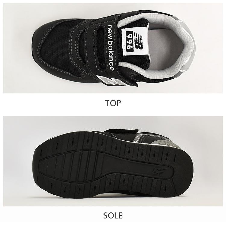 ニューバランス キッズ スニーカー ブラック/グレー/ネイビー インファント ジュニア 子供靴 3カラー new balance IZ996 denpcy 06