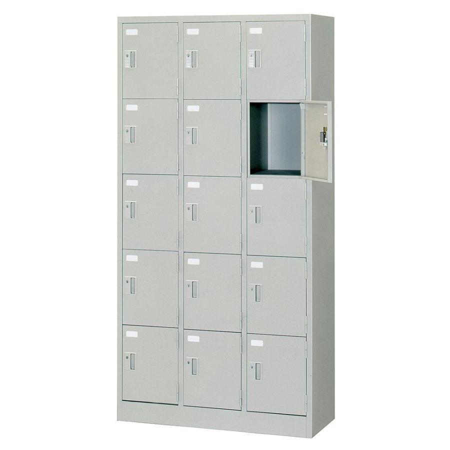 多人数ロッカー 3列5段 シリンダー錠 ニューグレー COM-SVG15A オフィス 鍵付き 事務所 事務所