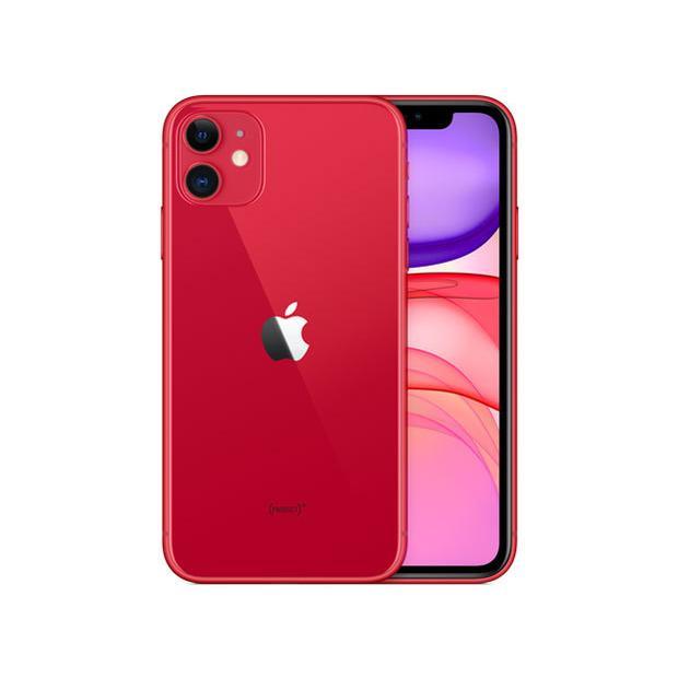 【整備済品】【他社製ケーブルとアダプタ付き】一ヶ月あんしん保証!iPhone 11 128GB RED MWM32J/A SIMフリー|densidonya