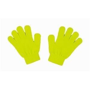 ds-1562528 (まとめ)アーテック カラーのびのび手袋 【子供用サイズ】 アクリル製 蛍光イエロー(黄) 【×40セット】 (ds1562528)