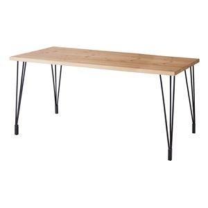ds-1705231 ダイニングテーブル(天然木/アイアン) LEIGHTON(レイトン) ミディアムブラウン NW-114MBR (ds1705231)