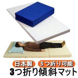 ds-480277 3つ折り傾斜マット シングルネイビー シングルネイビー 綿100% (ds480277)