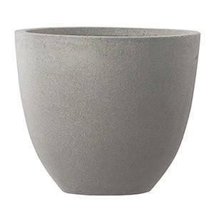 ds-2248347 ファイバーセメント製 軽量植木鉢 スタウト アッシュラウンド 42cm 大型植木鉢 (ds2248347)