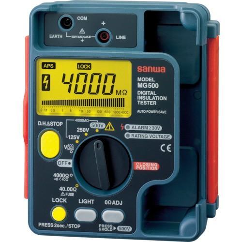 品質検査済 三和電気計器 MG500 「SANWA デジタル絶縁抵抗計 500V/250V/125V」, シンフォニージュエリー a18e43d1