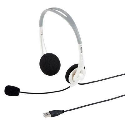 サンワサプライ MM-HSUSB16W USBヘッドセット(ホワイト) (MMHSUSB16W)|dentarou