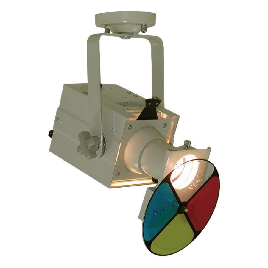 日照 吊下ハロゲン NEF-7463W 200Wピンスポ 200Wピンスポ アイボリー 自動カラーホイル付 (NEF7463W)