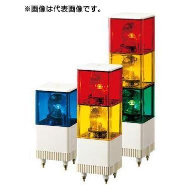 パトライト 電子音積層回転灯 KJT-102E-B 青 (1段式/DC24V)