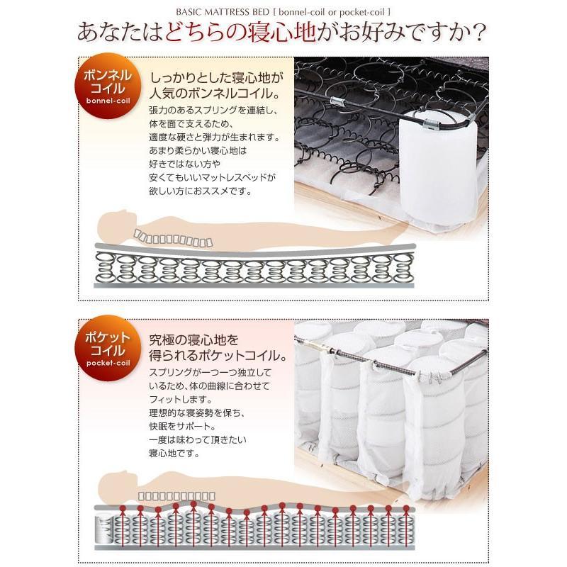 マットレス ベーシックボンネルコイル マットレス ベッド セミダブル 脚22cm (CO)|denzo|02