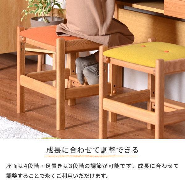 学習机 シンプル ツインデスク リビング学習 椅子付き 幅135 オーク 3点セット レプトン ISSEIKI denzo 13
