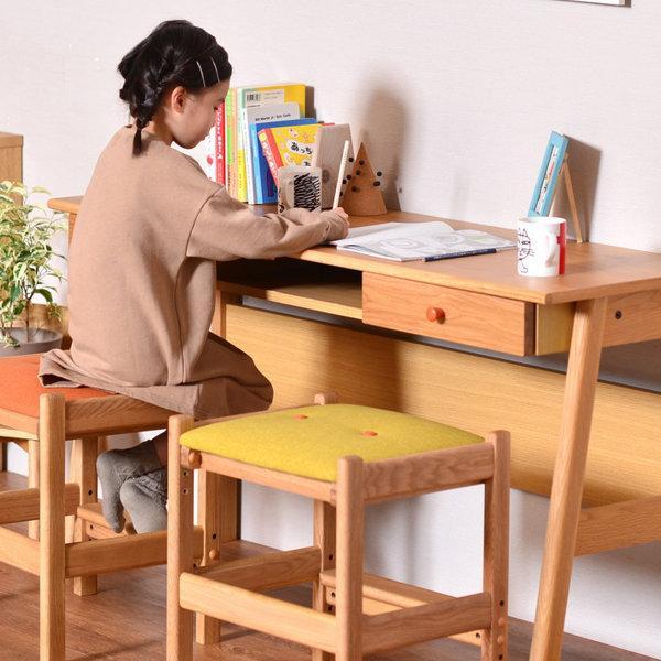 学習机 シンプル ツインデスク リビング学習 椅子付き 幅135 オーク 3点セット レプトン ISSEIKI denzo 03