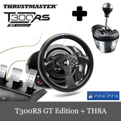 限定セール Thrustmaster T300RS GT Edition + TH8A 2点セット レーシング ホイール PS3/PS4/PC 対応 送料無料
