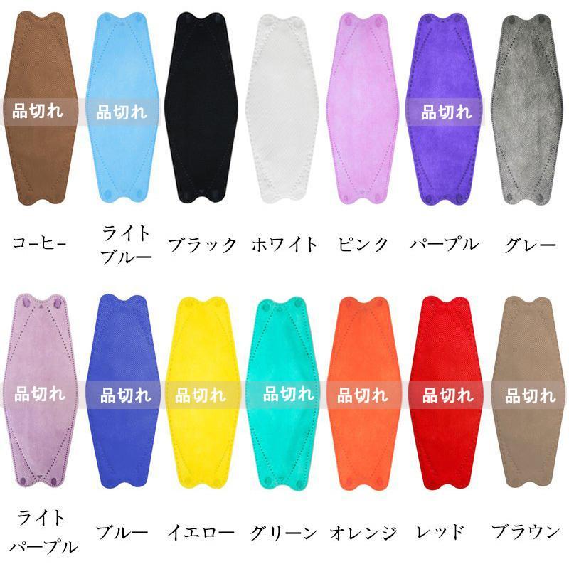 KF94 マスク 50枚入り 柳葉型 立体マスク 韓国風 口紅がつきにくい 飛沫防止 4層フィルター 99%カット 男女兼用 使い捨て 通気性 小顔効果 送料無料|deris|10