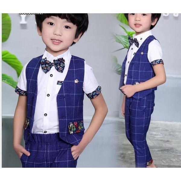 0b5516b4885f1 チェック柄 子供スーツ2点セット フォーマル タキシード 男の子 キッズ  ...