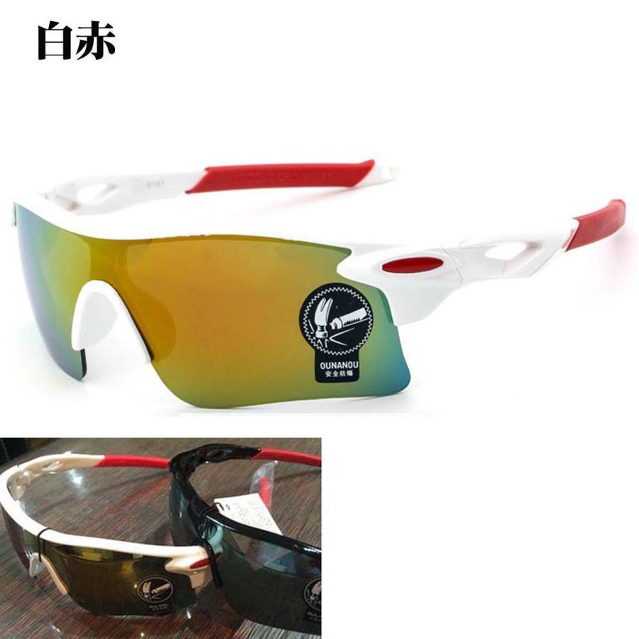 スポーツサングラス サングラス メンズ レディース アウトドア 釣り ランニング ゴルフ 野球 スポーツ 紫外線カット UVカット 軽量 deruderu 10