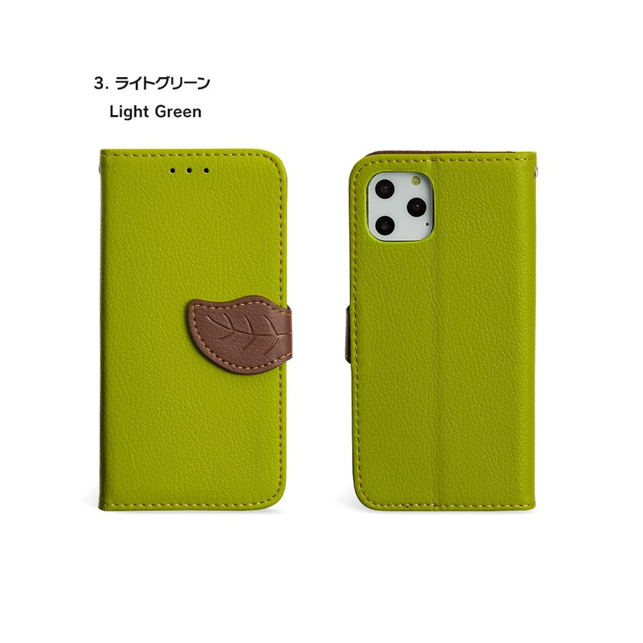 iPhone11 ケース手帳型 アイフォン11 ケース iPhone8 ケース iPhone11proケース iPhone7 ケース おしゃれ 緑 茶 dm「リーフ」 designmobile 16
