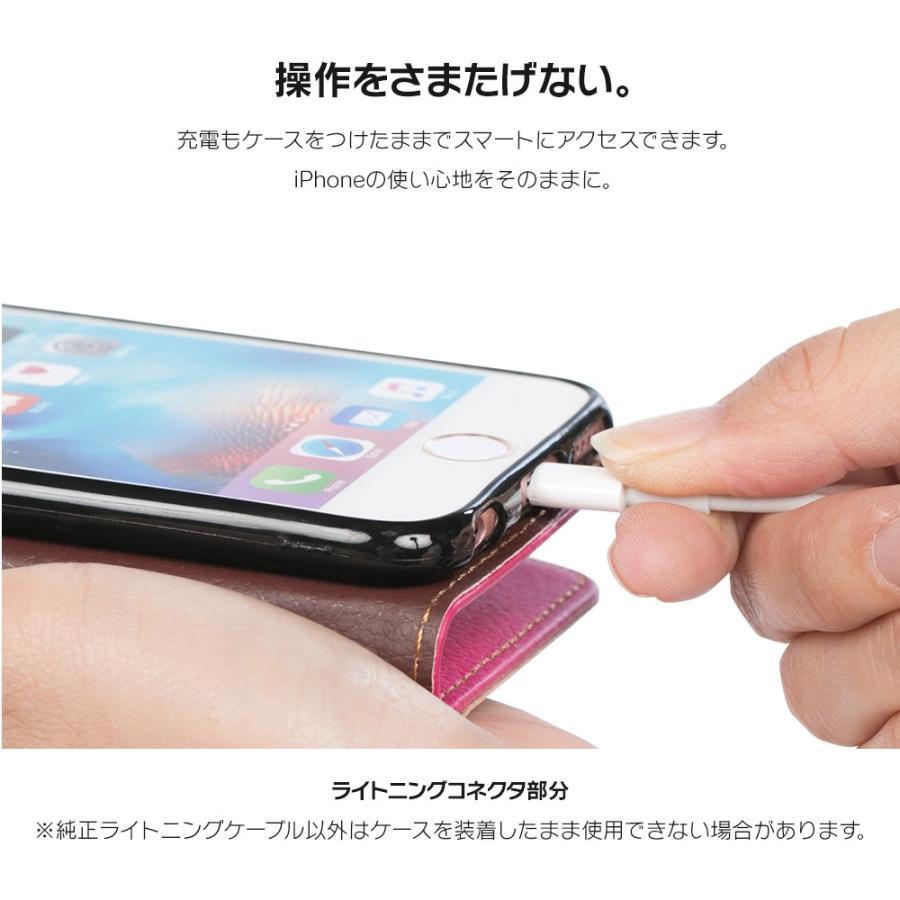 iPhone11 ケース手帳型 アイフォン11 ケース iPhone8 ケース iPhone11proケース iPhone7 ケース おしゃれ 緑 茶 dm「リーフ」 designmobile 06