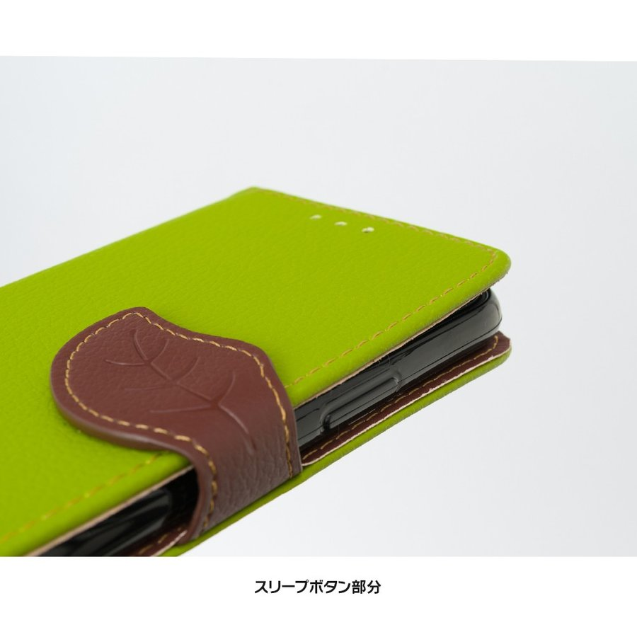 iPhone11 ケース手帳型 アイフォン11 ケース iPhone8 ケース iPhone11proケース iPhone7 ケース おしゃれ 緑 茶 dm「リーフ」 designmobile 08