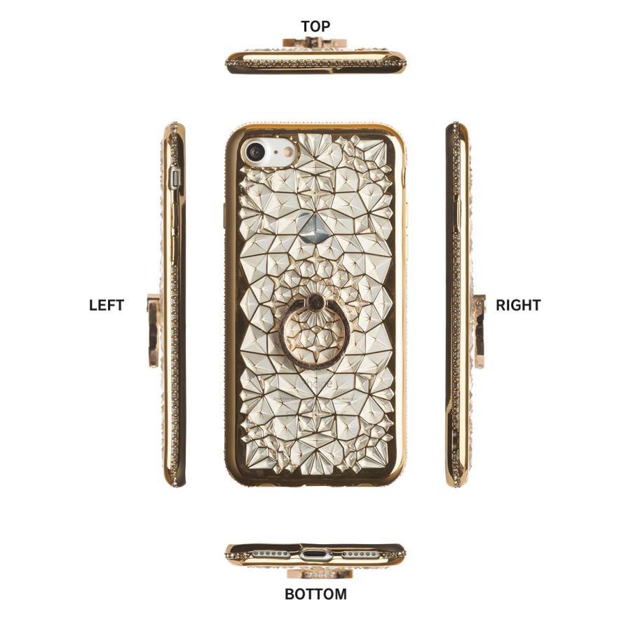 iPhone11 ケース アイフォン11 ケース iPhone8 ケース iPhone11proケース XR ケース リング キラキラ かわいい dm「ジュエル」 designmobile 14