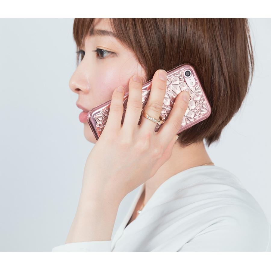 iPhone11 ケース アイフォン11 ケース iPhone8 ケース iPhone11proケース XR ケース リング キラキラ かわいい dm「ジュエル」 designmobile 15