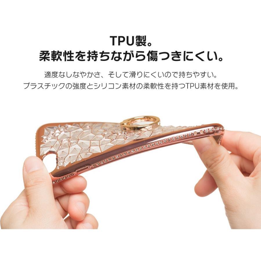 iPhone11 ケース アイフォン11 ケース iPhone8 ケース iPhone11proケース XR ケース リング キラキラ かわいい dm「ジュエル」 designmobile 06