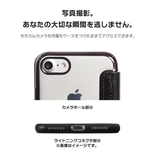 iPhone8 ケース SE2 XR ケース スマホケース 手帳型 XS MAX iPhone7 Plus iPhoneケース Plus シンプル キラキラ dm「カルネ」|designmobile|12