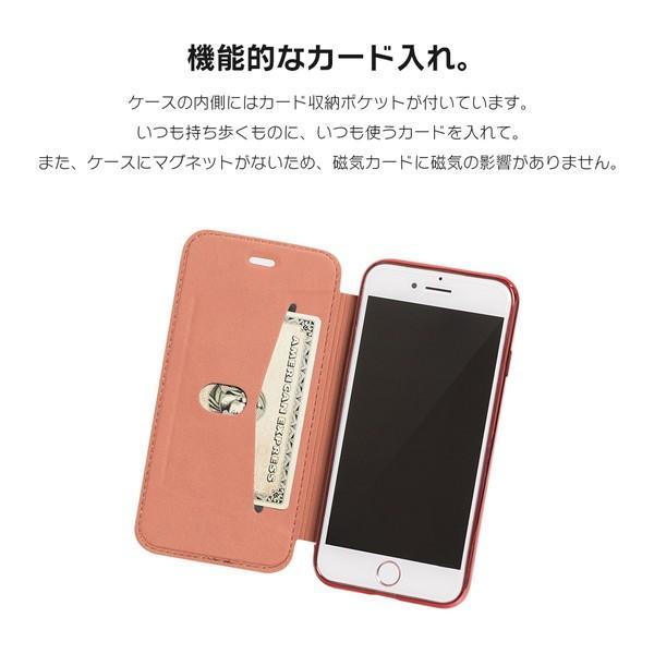 iPhone8 ケース SE2 XR ケース スマホケース 手帳型 XS MAX iPhone7 Plus iPhoneケース Plus シンプル キラキラ dm「カルネ」|designmobile|06
