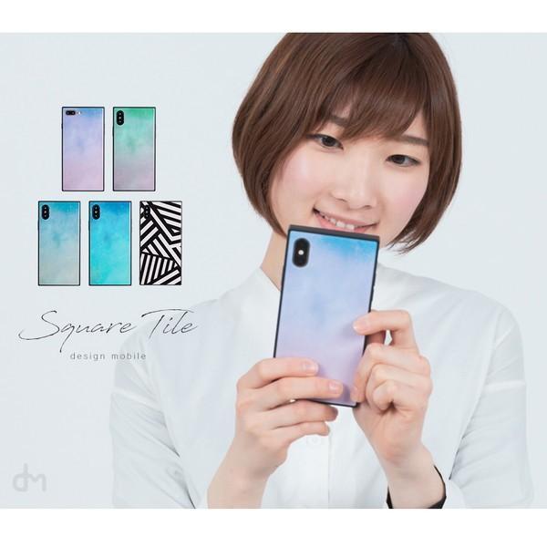 iPhone8 ケース SE2 XR ケース スマホケース XS MAX X iPhone7 iPhoneケース かわいい ガラス dm「スクエアタイル」|designmobile|02