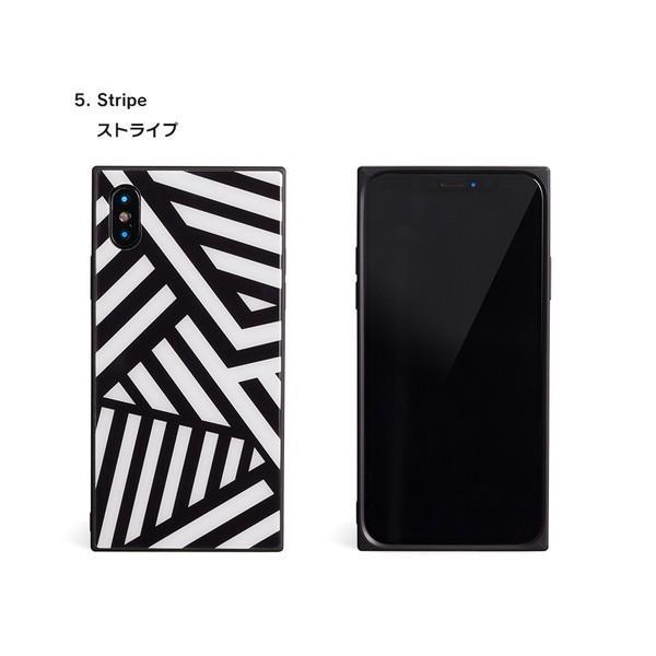iPhone8 ケース SE2 XR ケース スマホケース XS MAX X iPhone7 iPhoneケース かわいい ガラス dm「スクエアタイル」|designmobile|13