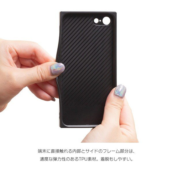 iPhone8 ケース SE2 XR ケース スマホケース XS MAX X iPhone7 iPhoneケース かわいい ガラス dm「スクエアタイル」|designmobile|15