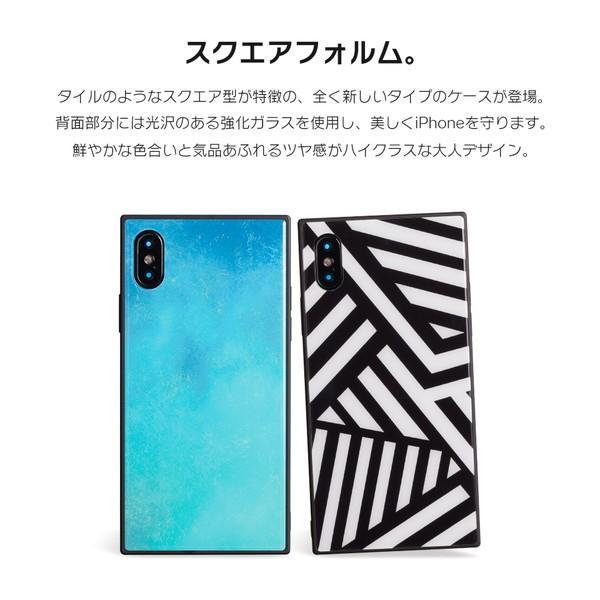 iPhone8 ケース SE2 XR ケース スマホケース XS MAX X iPhone7 iPhoneケース かわいい ガラス dm「スクエアタイル」|designmobile|03