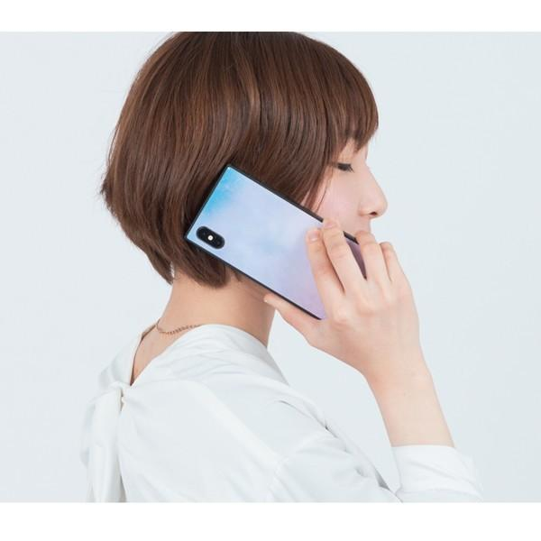 iPhone8 ケース SE2 XR ケース スマホケース XS MAX X iPhone7 iPhoneケース かわいい ガラス dm「スクエアタイル」|designmobile|04
