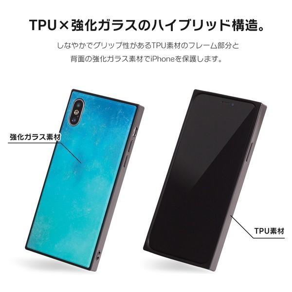 iPhone8 ケース SE2 XR ケース スマホケース XS MAX X iPhone7 iPhoneケース かわいい ガラス dm「スクエアタイル」|designmobile|05