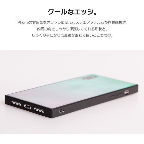iPhone8 ケース SE2 XR ケース スマホケース XS MAX X iPhone7 iPhoneケース かわいい ガラス dm「スクエアタイル」|designmobile|06